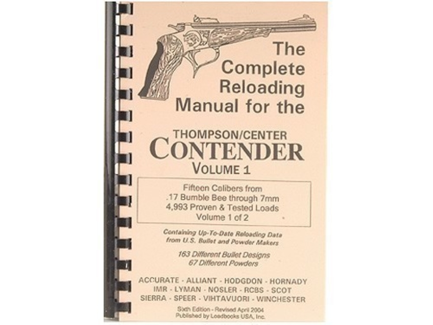 Loadbooks T/C Contender Vol 1  Each - Reloading Unlimited