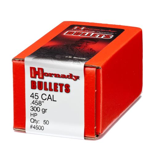 "Hornady Rifle Bullets 45 cal (.458"") 300gr HP - 50/bx"