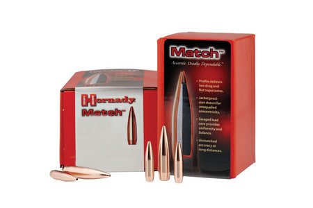 "Hornady Rifle Bullets 22 cal (.224"") 68gr BTHP Match - 100/bx"