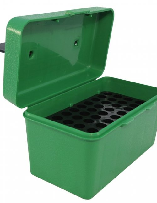 MTM Deluxe Flip-Top Ammo Box with Handle 22-250 Remington, 243 Winchester, 308 Winchester 50-Round - Green
