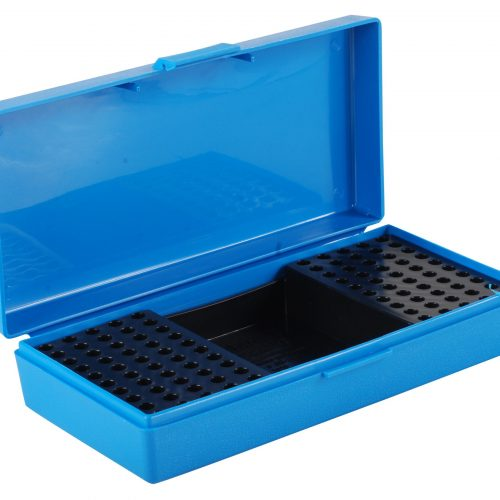 MTM Flip-Top Ammo Box 22 Long Rifle 100-Round Plastic - Blue