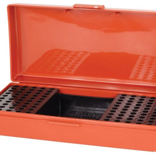 MTM Flip-Top Ammo Box 22 Long Rifle Rimfire Competition 100-Round Plastic - Rust