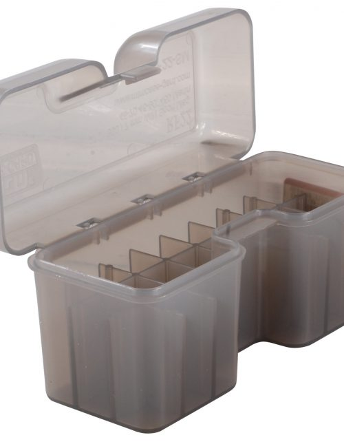 MTM Flip-Top Ammo Box 7mm Remington Magnum, 300 Winchester Magnum, 375 Remington Ultra Magnum 22-Round - Smoke