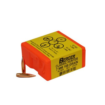 "Berger Rifle Bullets 7mm (.284"") 168gr Classic Hunter - 100/bx"