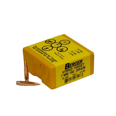 "Berger Rifle Bullets 7mm (.284"") 180gr Match Target Hybrid - 100/bx"