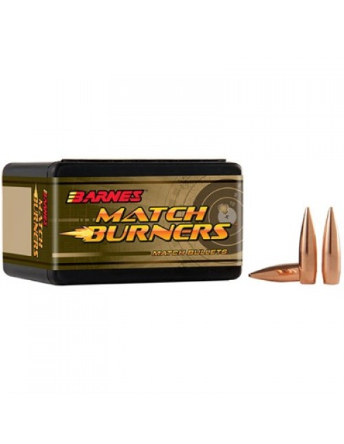 "Barnes Rifle Bullets 22 cal (.224"") 52gr BT Match Burners - 100/bx"