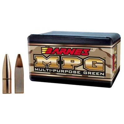 "Barnes Rifle Bullets 6.8mm (.277"") 85gr Multi-Purpose Green (MPG) - 100/bx"