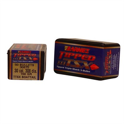 "Barnes Rifle Bullets 30 cal (.308"") 150gr Tipped TSX BT - 50/bx"