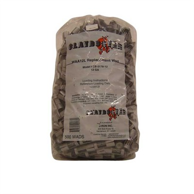 Claybuster Shotshell Wads 12 Gauge CB0178-12 (Replaces WAA12L) 7/8 oz Bag of 500