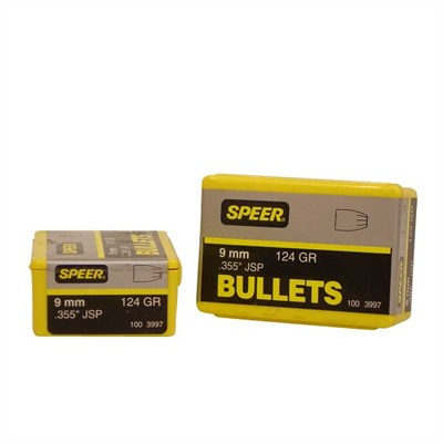 "Speer Bullet 9mm (.355"") 124gr SP 100/bx"