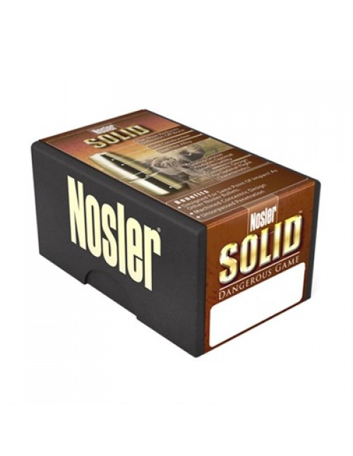 "Nosler Rifle Bullets 458 cal (.458"") 500gr Solid Dangerous Game FP - 25/bx"